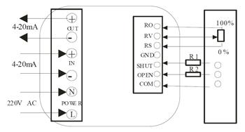 智能调节型电动执行器接线图