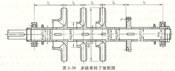 多级泵转子装配图
