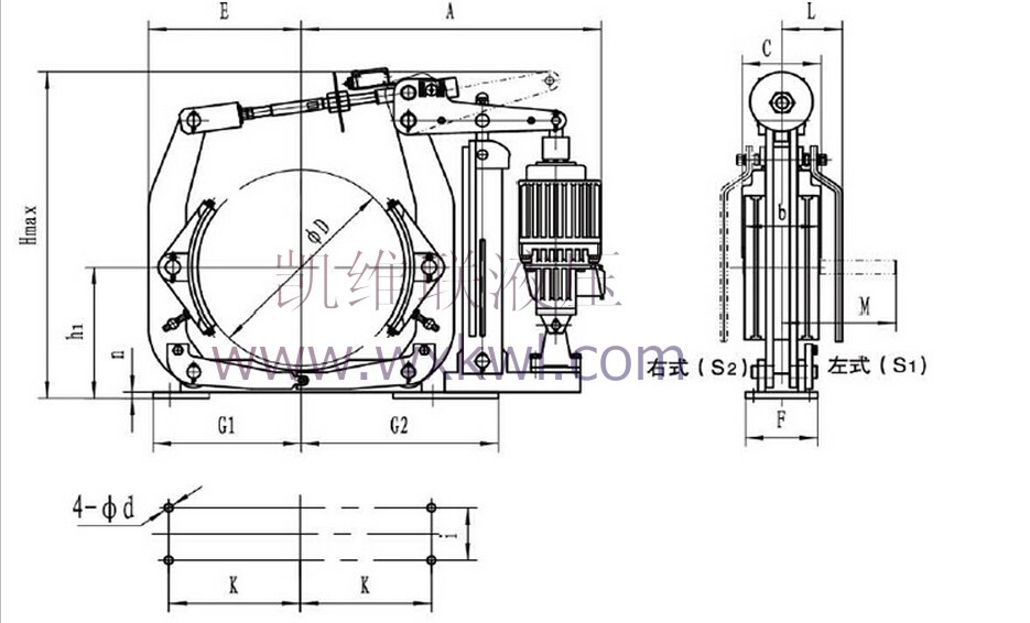 yw710-e3000-鼓式制动器-无锡凯维联液压机械有限