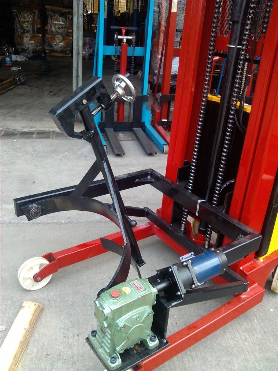 手推式电子油桶秤,100kg油桶搬运车秤