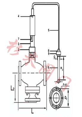 自力式三通温度调节阀 结构图