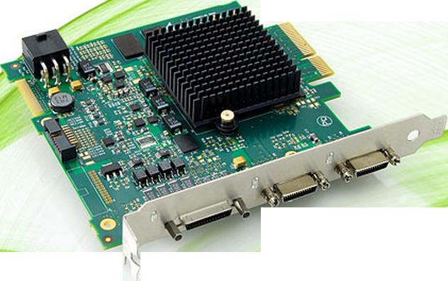 clmx4采集卡,它采用了工业级pciexpress