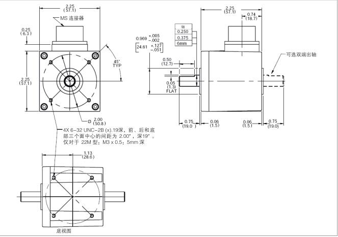 亨士乐hengstler实心轴编码器输入电压:dc 5~25v,最大电流75ma,不包括