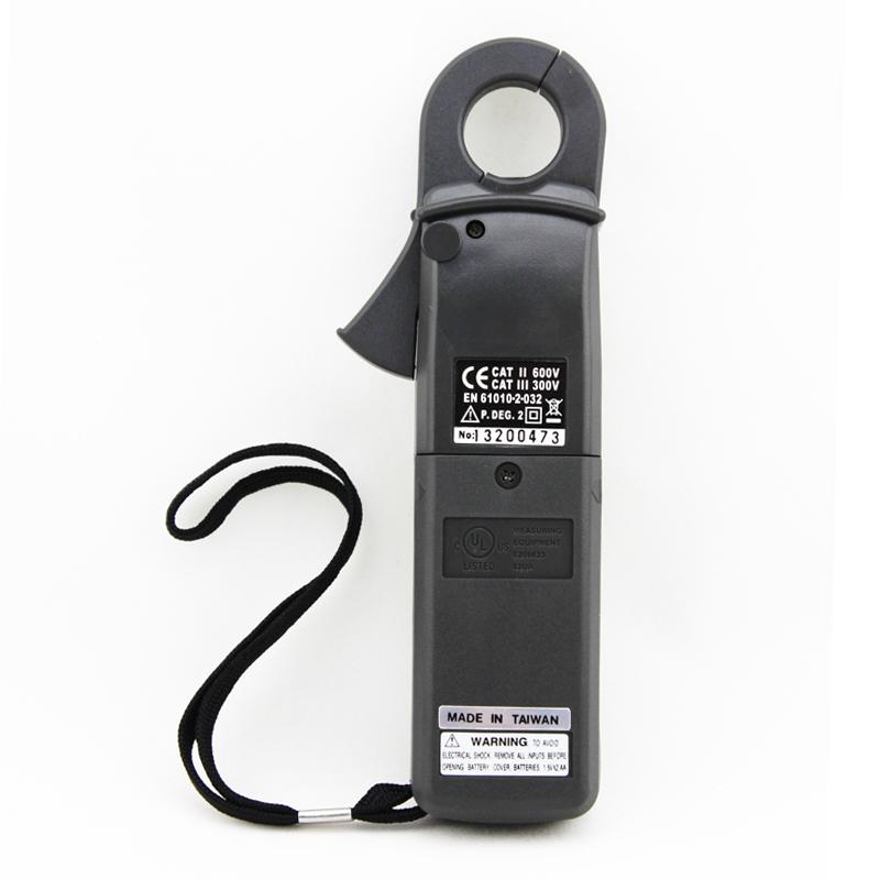 1.精密准确的电流量测 2.直流1mA,交流0.1mA的高解析度 3.按键归零 4.23mm直径的转换器 5.大型3.5位LCD显示 6.快速类比显示(20次/秒) 7.导通和频率测试 8.大/小值记录与读值锁定 9.测量电阻时有600VAC过载保护 10.单旋钮操作