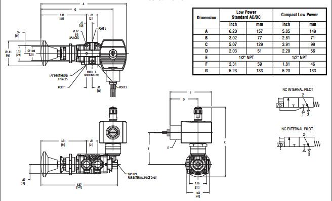 三位五通中泄电磁阀工作原理图分享展示