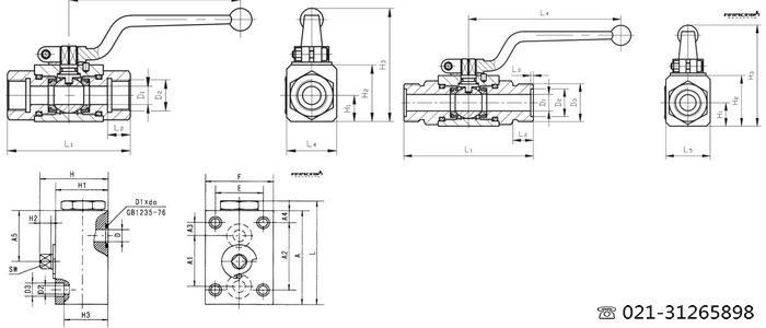 泵阀类 球阀 yjzq-j32w dn32高压球阀  液压阀可分为压力控制阀,流量图片
