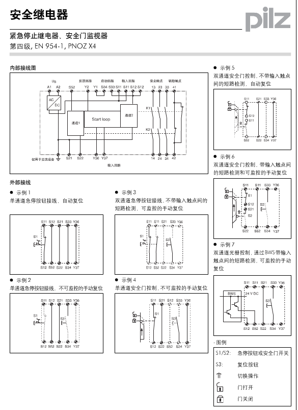 pilz安全继电器pnoz x4系列技术资料