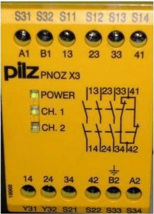 皮爾茲pilz安全繼電器接線方式
