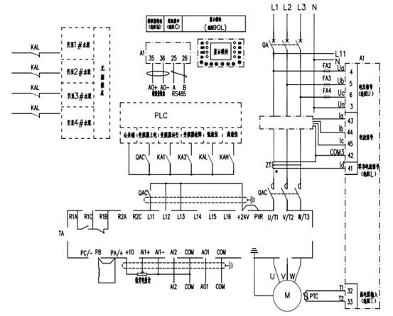 鼠笼电机星三角降压启动电路图