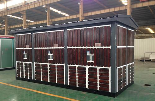 产品介绍 yb预装式变电站分为高压室,变压器室,低压室三大部分,将图片