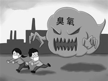 卡通手绘环境污染黑白色