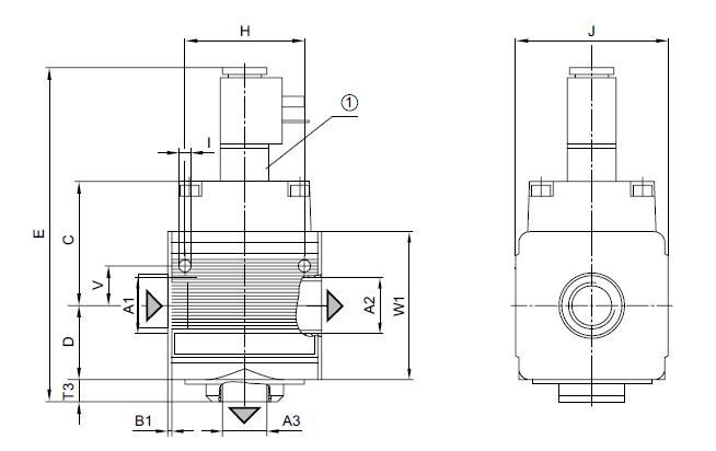 5 bar / 10 bar 介质压缩空气 中性气体 力士乐二位三通换向阀电气图片