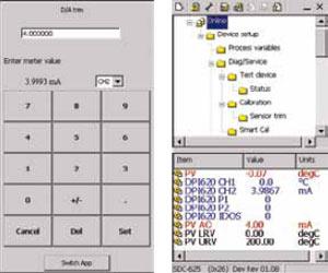 dpi620压力校验仪HART功能界面