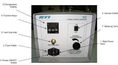 美国ATI气溶胶发生器TDA-5C气溶胶发生器部件图