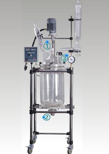 YSF-10L双层玻璃反应釜