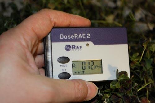 个人剂量报警仪测量三叶草辐射