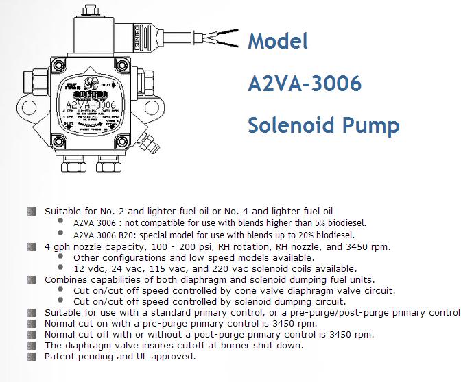 a2va-3006,suntec燃油泵