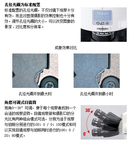 <strong>尼康变焦显微镜 MULTIZOOM AZ100多功能变焦显微镜价格</strong>