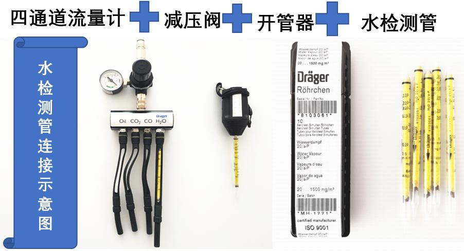 德尔格水检测管连接示意图