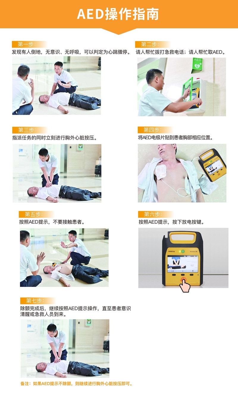 迈瑞AED心脏自动除颤器操作流程