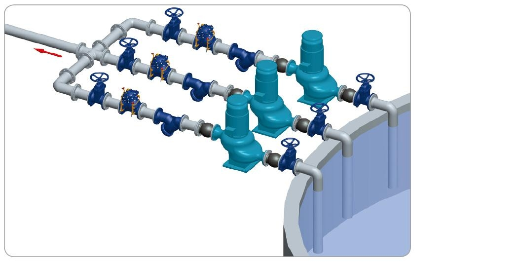 多功能水泵控制阀安装图